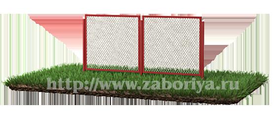 Секционные заборы из сетки-рабицы