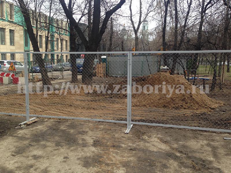Ограждения строительные в Москве