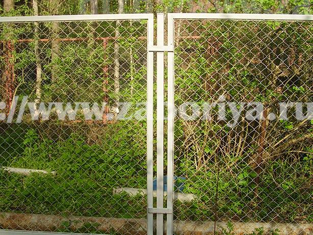 Секционные заборы из сетки-рабицы Забория