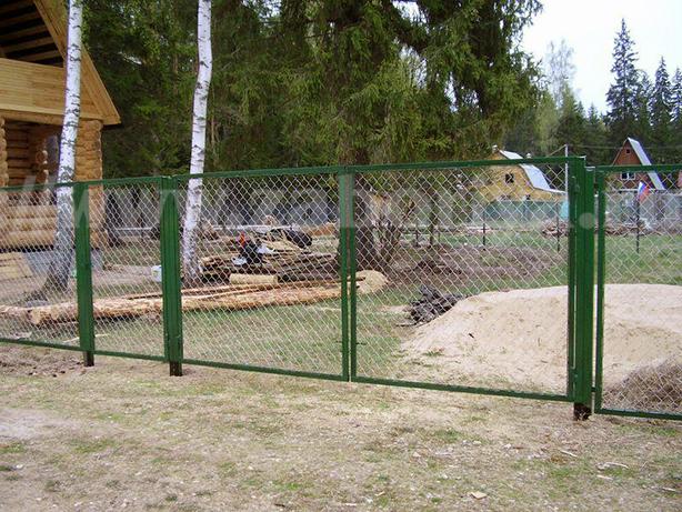 Секционные заборы из сетки-рабицы в Московской области